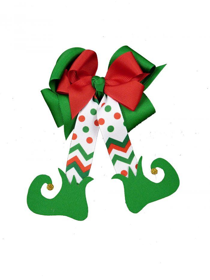 green red white elf christmas winter holiday shoes child girls toddler grosgrain polka dot chevron