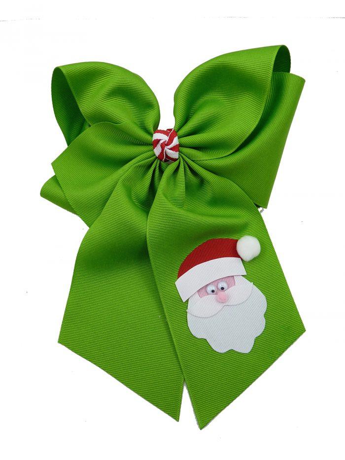 hairbow hair bow Santa Claus Christmas Xmas apple green