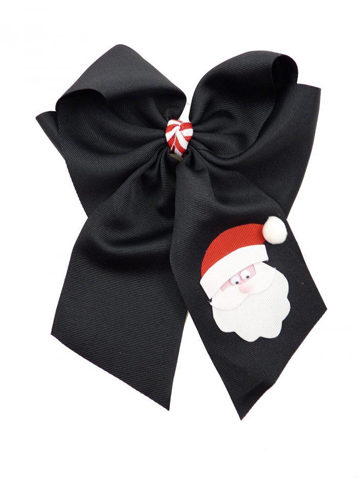 hairbow hair bow Santa Claus Christmas Xmas black