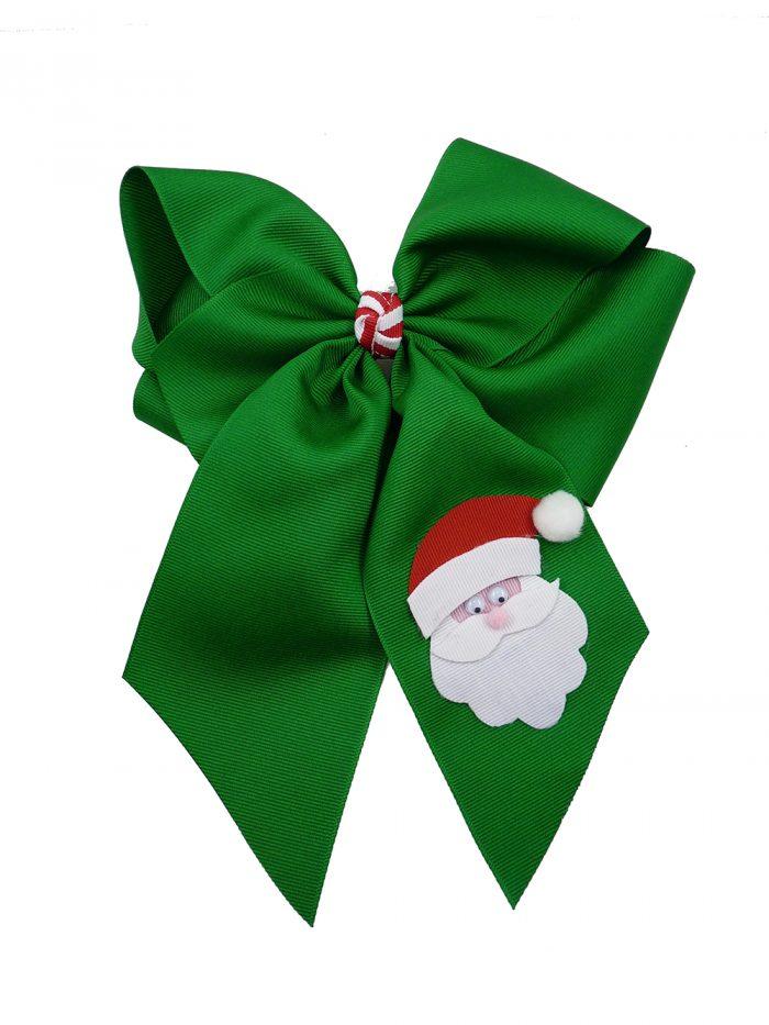 hairbow hair bow Santa Claus Christmas Xmas emerald green