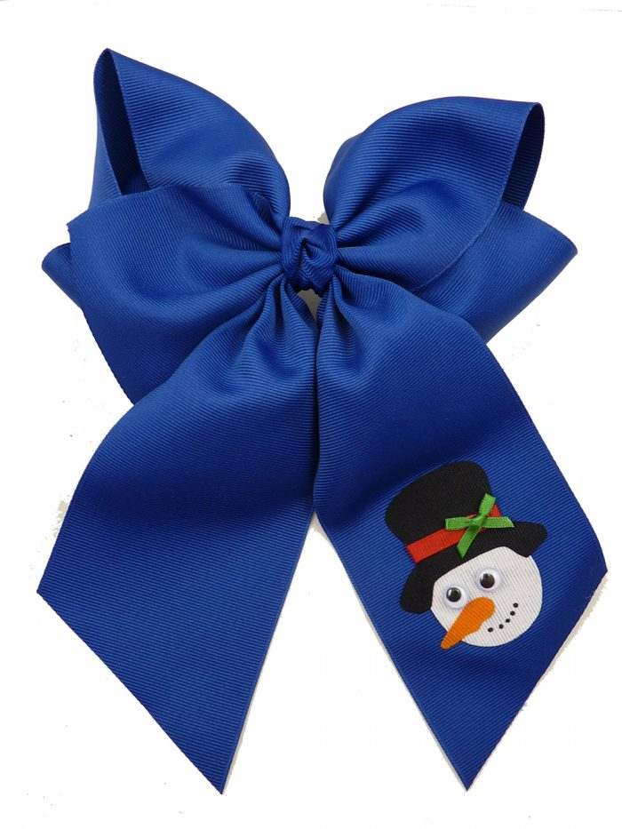 Frosty century blue winter top hat hairbow hair bow snowman Christmas Xmas carrot