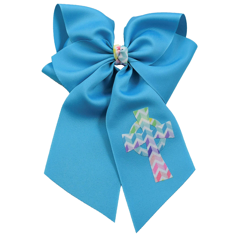 Turquoise purple pink chevron white celtic cross hairbow hair bow fluff grosgrain toddler girls child spring