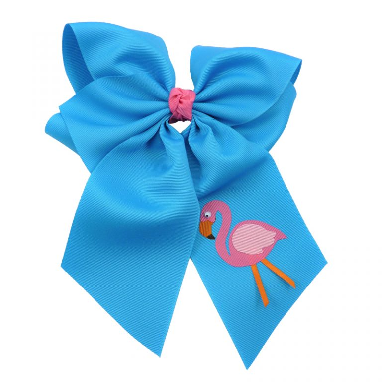 flamingo, bow, summer, hair bow, hairbow, bows, hair, bow, girls, toddler, child, barrette, grosgrain, pink, orange, turquoise, blue