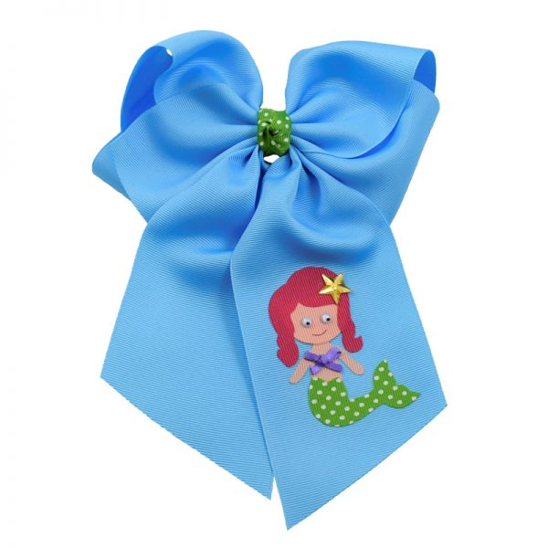 mermaid, bow, star, summer, swiss dot, polka dot, purple, apple, green, hair bow, hairbow, bows, hair, bow, girls, toddler, child, barrette