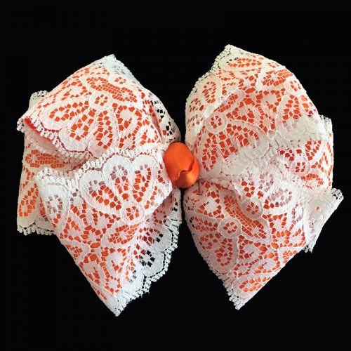 lace loop bow hairbow hair satin purple watermelon